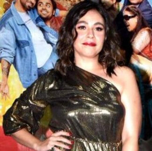 Maanvi Gagroo having fun at the screening of her film in February 2020