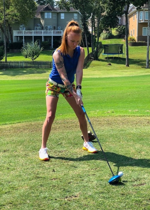 Maci Bookout as seen in a picture taken in September 2019 while playing golf