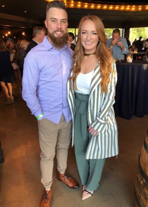 Maci Bookout as seen in a picture taken with her beau Taylor McKinney in Chattanooga Whiskey Event Hall & Headquarters in Tennessee in October 2019