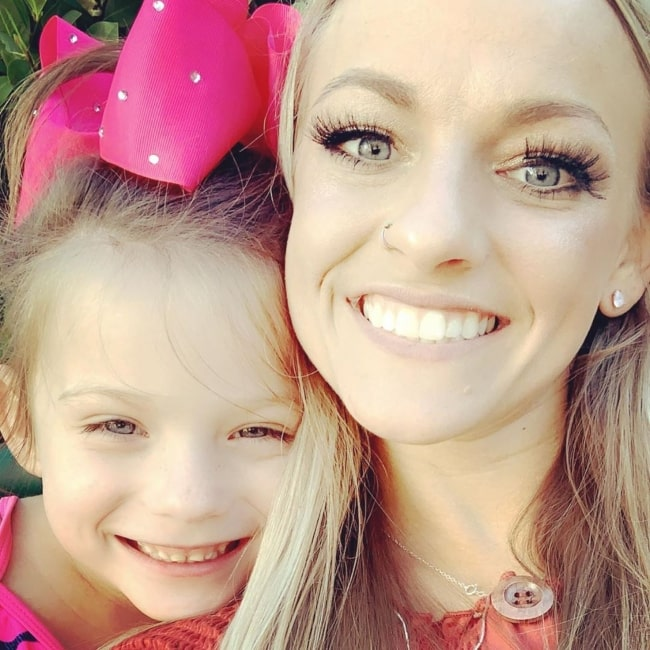 Mackenzie McKee as seen in a selfie taken with her daughter Jaxie Taylor in March 2020