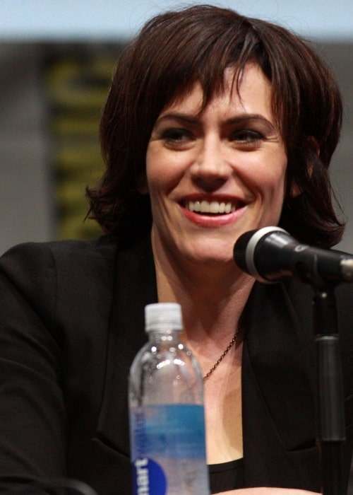 Maggie Siff as seen in a picture taken at the San Diego Comic Con International in July 2013
