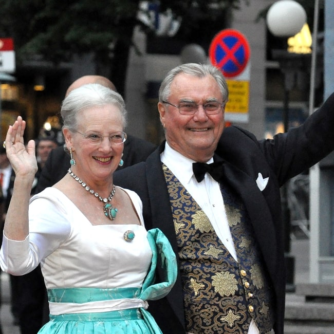Margrethe II of Denmark and her spouse Henri de Laborde de Monpezat in June 2010