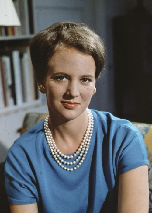 Margrethe II of Denmark in a picture taken in 1966