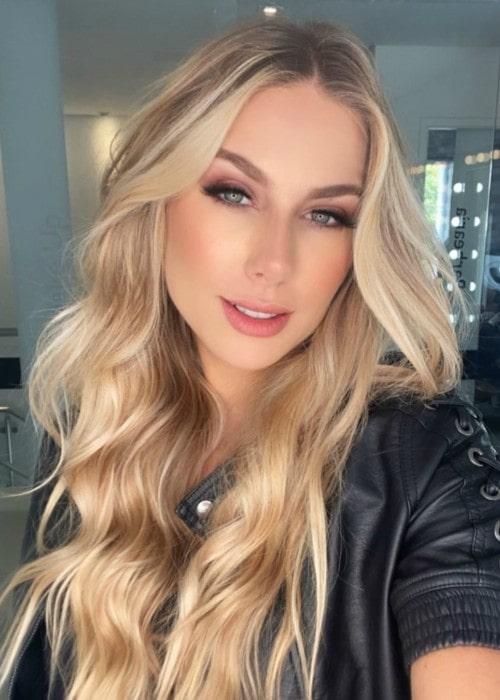 Marthina Brandt in a selfie as seen in February 2020