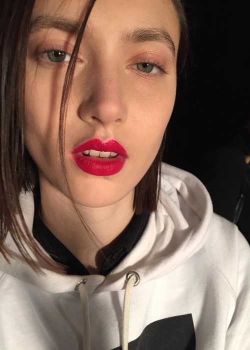 Matilda Lowther as seen in a selfie taken in New York City, New York in February 2018