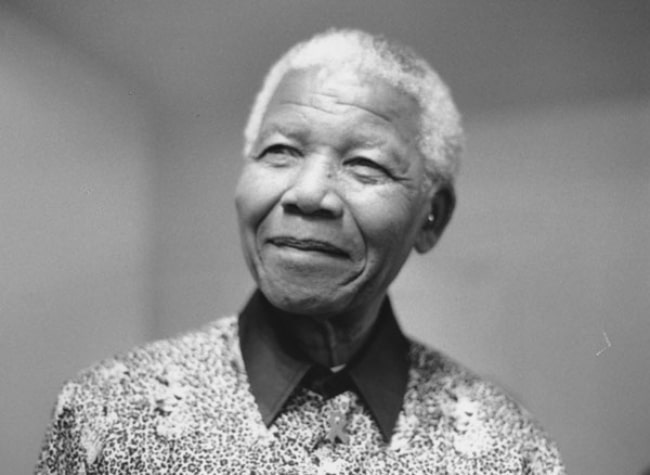 Nelson Mandela as seen during his visit to give a lecture at LSE on 'Africa and Its Position in the World' held at the Peacock Theatre in November 2009