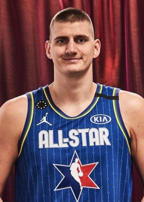 Nikola Jokić as seen in an Instagram Post in February 2020
