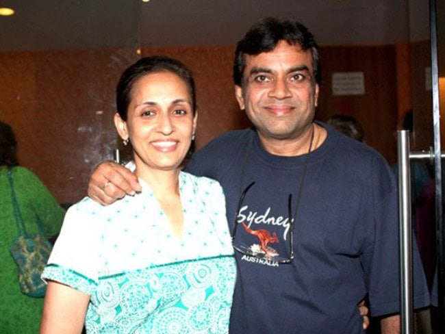 Paresh Rawal along with his wife in 2013