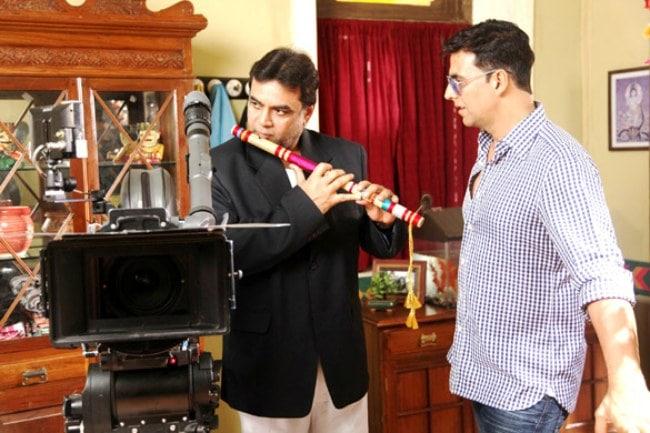 Paresh Rawal on the sets of OMG.