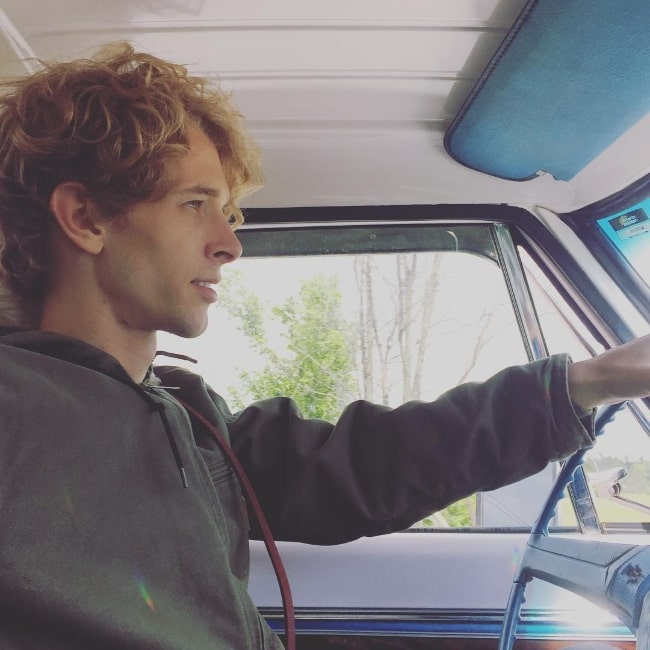 Parker Croft pictured while enjoying an afternoon cruise in the truck in June 2016
