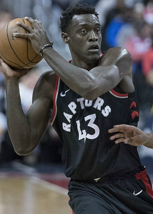 Pascal Siakam during a match as seen in March 2018