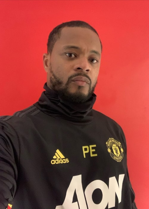 Patrice Evra in an Instagram selfie from December 2019