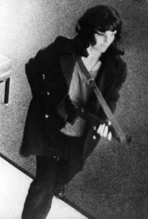 Patty Hearst as seen during the April 1974 Hibernia bank robbery