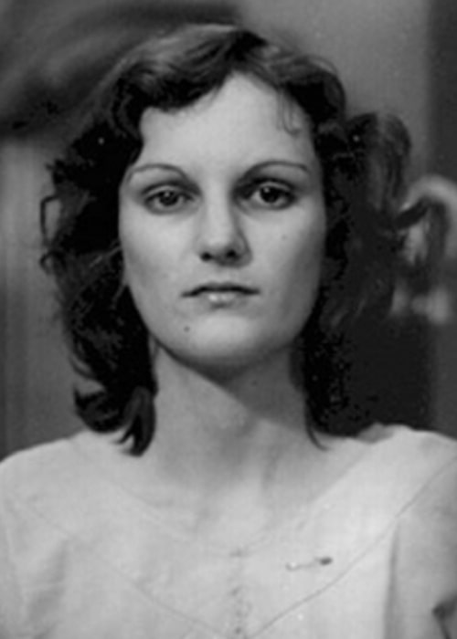 Patty Hearst as seen in an arrest photo as a convicted bank robber