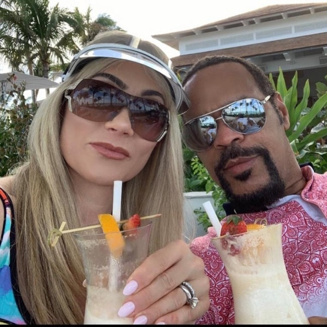 Paul Dillett in selfie with his wife Allison while on a vacation in the Bahamas in February 2020