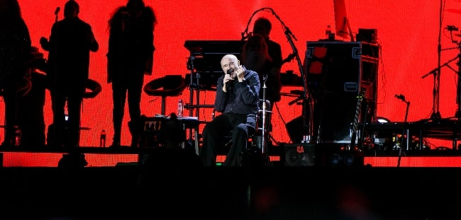 Phil Collins as seen while performing at Hyde Park, London on June 30, 2017