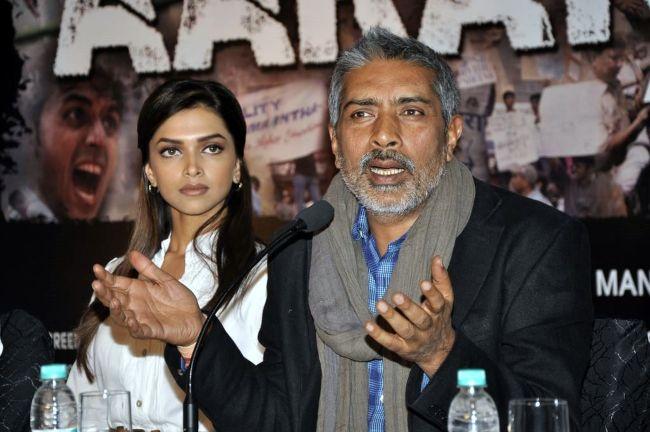 Prakash Jha during the promotion of his film Aarakshan in 2010.