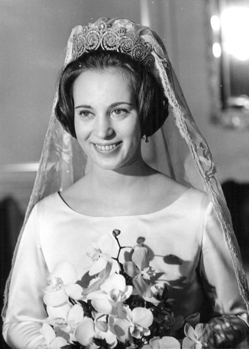 Princess Benedikte of Denmark as seen in a wedding picture taken in February 1968