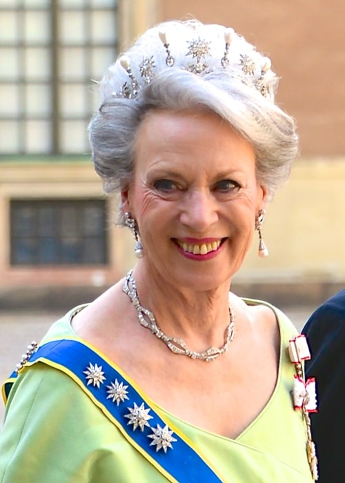 Princess Benedikte of Denmark on the way to the castle church at the Royal Palace in Stockholm before the wedding between Princess Madeleine and Christopher O'Neill June 8, 2013
