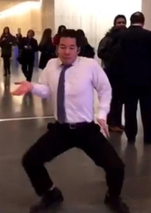 QPark doing his antics in public in November 2018