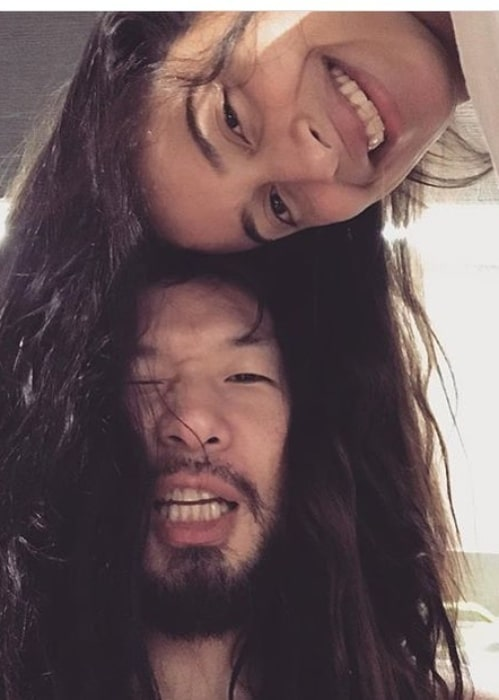 QPark having a fun time with his girlfriend in January 2018