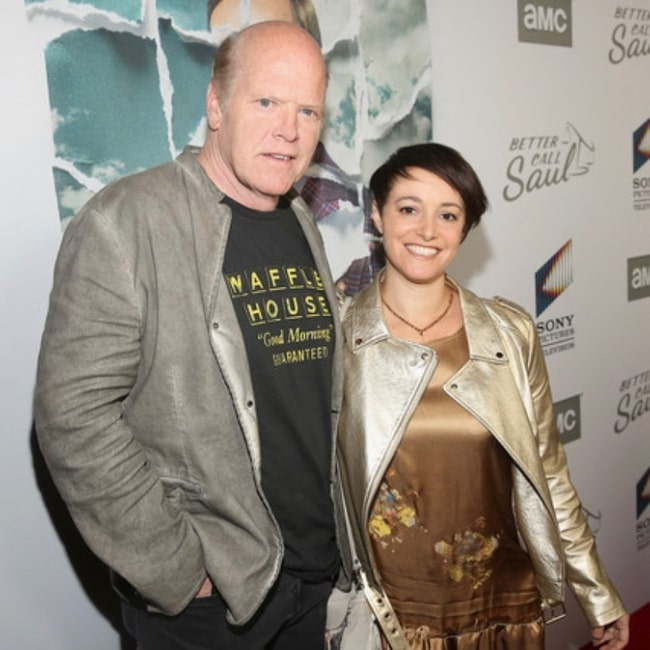Rex Linn as seen while posing for a picture along with Cara Pifko in February 2020