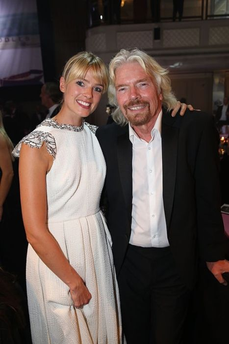 Richard Branson posing with his daughter-in-law Isabella Calthorpe in 2013