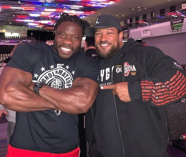 Roelly Winklaar (Right) posing for a picture alongside Robert Wilmote in March 2020