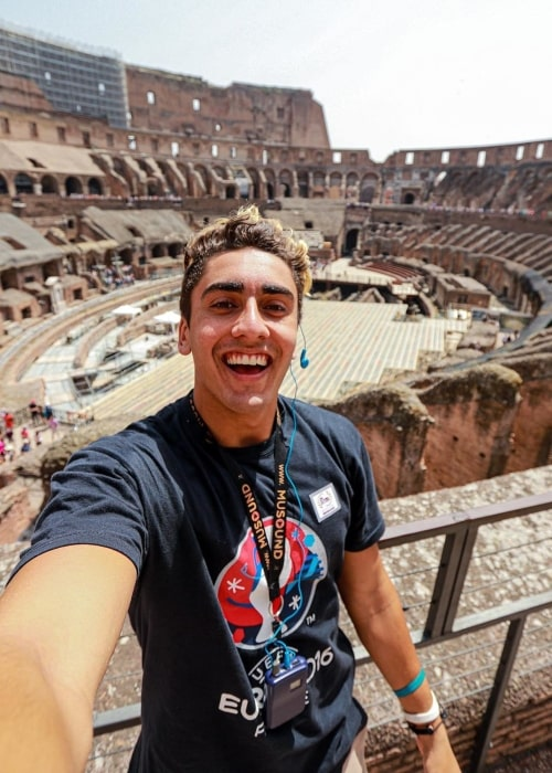 Rohan Kohli as seen in a selfie taken in the Colosseum in Rome, Italy in the past