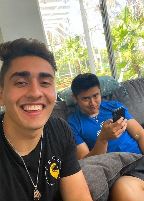 Rohan Kohli as seen in a selfie taken with fellow YouTuber Ricky Ireland in February 2020