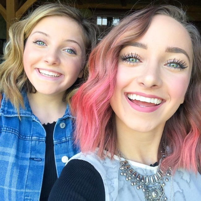 Rylan McKnight as seen in a selfie taken with her sister Bailey McKnight in September 2019