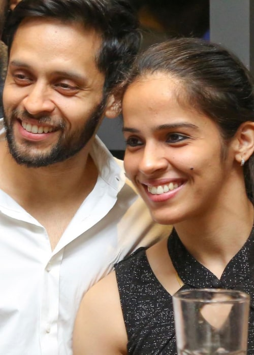 Saina Nehwal and Parupalli Kashyap, as seen in April 2020