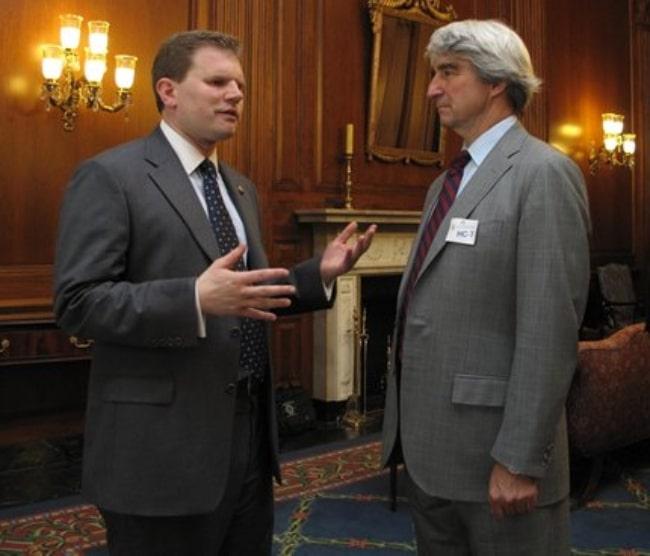 Sam Waterston (Right) and U.S. Rep. Dan Maffei of New York