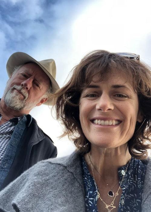 Sarah Clarke and Xander Berkeley in an Instagram selfie from September 2019