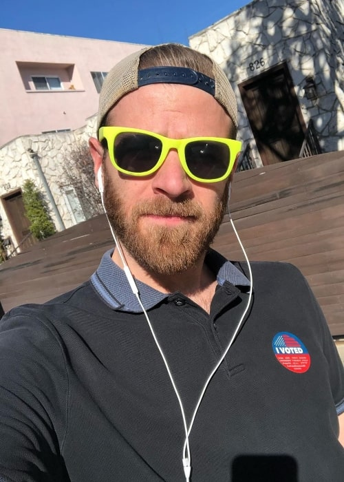 Scott Evans as seen while taking a selfie in March 2020