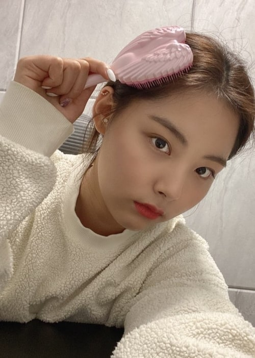 Songhee as seen in a selfie that was taken in February 2020