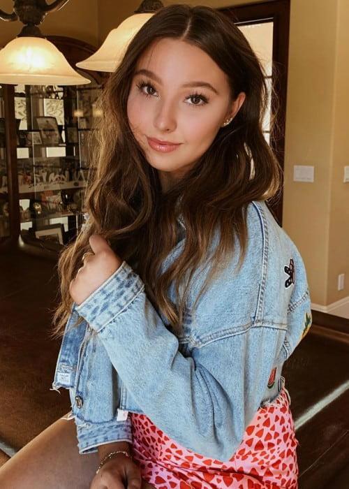 Sophia Lucia in an Instagram post in October 2019