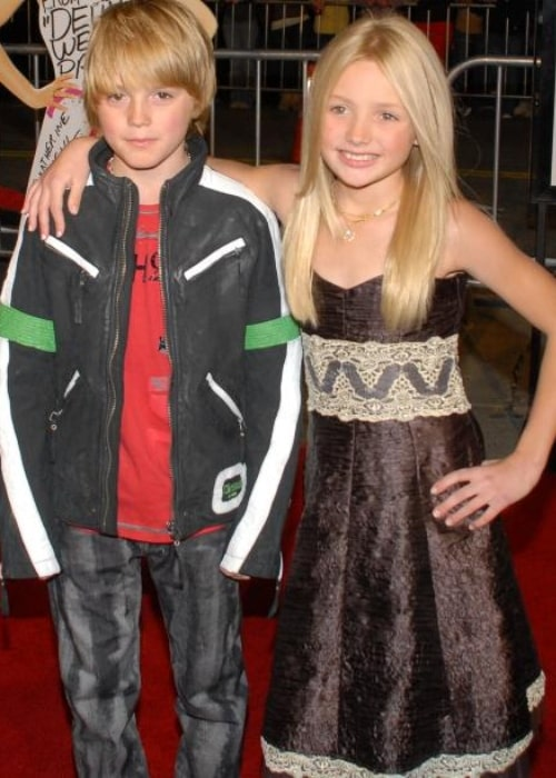 Spencer List and Peyton List as seen at the Westwood premiere of the movie '27 Dresses' in January 2008