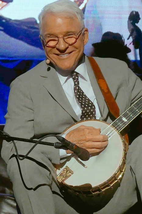 Steve Martin performing in Corcord, California on August 11, 2017
