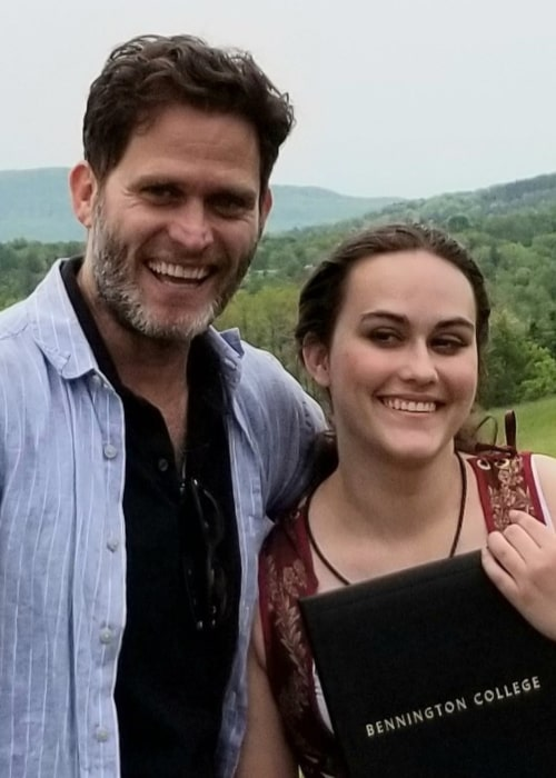 Steven Pasquale with his daughter Maddie, as seen in June 2019