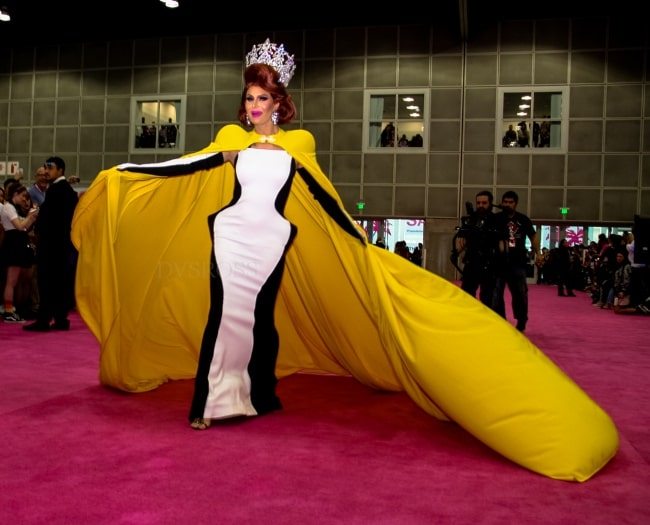 Trinity Taylor posing for the camera at Rupaul DragCon 2019 - Los Angeles