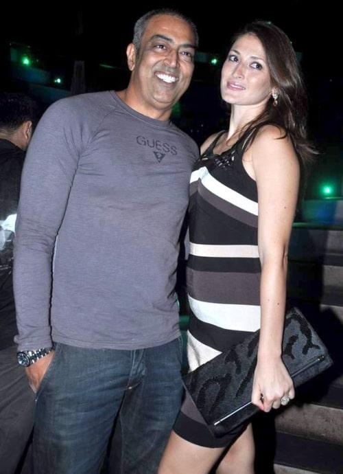 Vindu Dara Singh as seen in a picture taken with his wife Dina Umarova on June 12, 2012