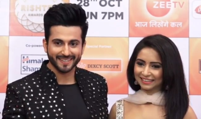 Vinny Arora with her husband at the Zee Rishtey Awards 2018