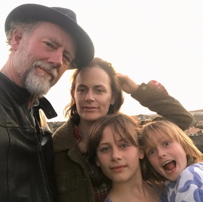 Xander Berkeley with his family, as seen in June 2018