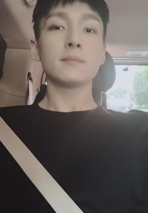 Zuho as seen while taking a selfie in August 2019