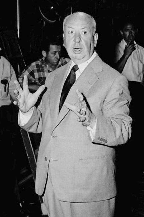 Alfred Hitchcock as seen in 1955.