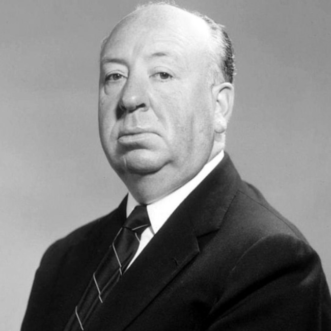 Alfred Hitchcock in a studio publicity still published in 2011.