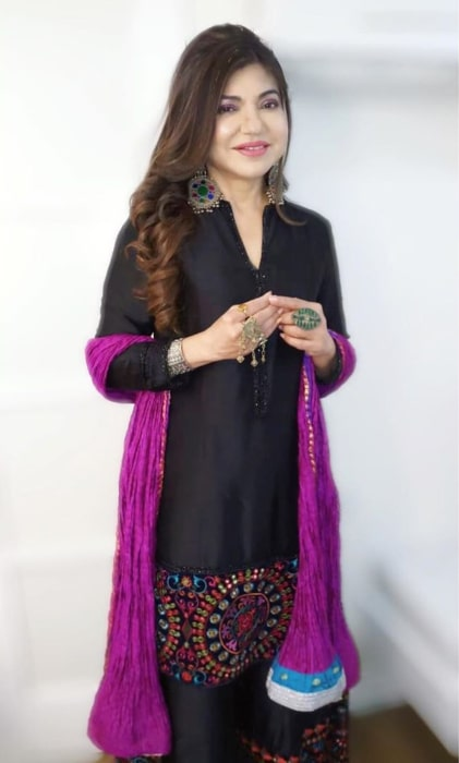 Alka Yagnik as seen in an Instagram Post in March 2020