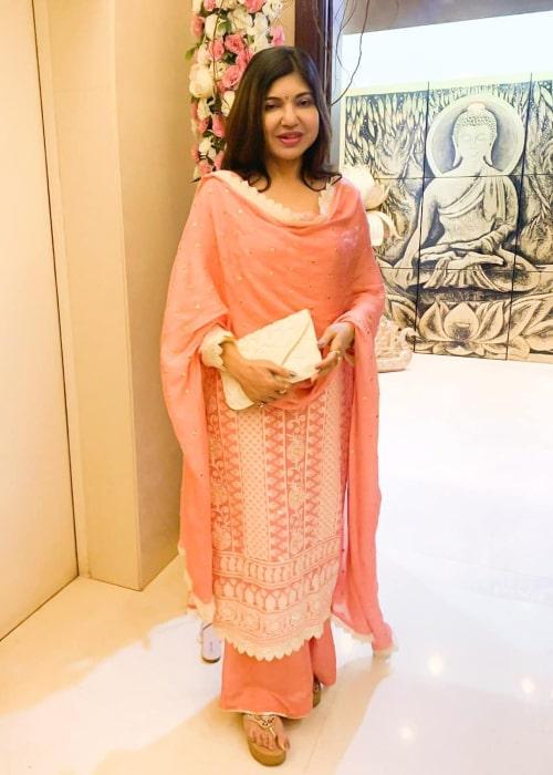 Alka Yagnik as seen in an Instagram Post in September 2019