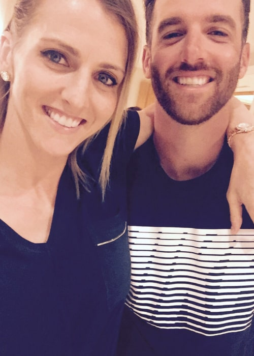 Allie Quigley with her younger brother Jacob, as seen in February 2018